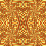 Seamless abstract festive pattern, yellow and brown. Tiled ethnic pattern. Geometric mosaic. Great for tapestry, carpet, blanket, bedspread, fabric, ceramic tiles, stained glass window, wallpapers - 255076960