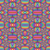 Multicolor Seamless abstract festive vivid pattern. Tiled ethnic pattern. Geometric mosaic. Great for tapestry, carpet, blanket, bedspread, fabric, ceramic tiles, stained glass window, wallpapers - 255079138