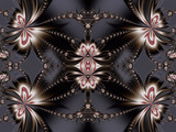 Flower fractal pattern. You can use it for invitations, notebook covers, phone cases, postcards, cards, ceramics, carpets and so on. Artwork for creative design, art and entertainment. - 255080180