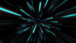 Abstract tunnel speed light Starburst background dynamic technology concept, blue green - 255084728