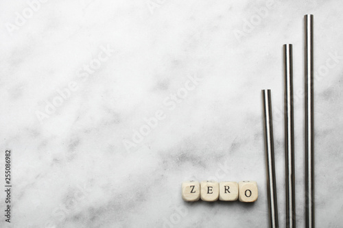 Three reusable steel straws