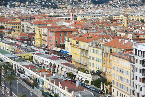 Nice, France. View on houses of French riviera