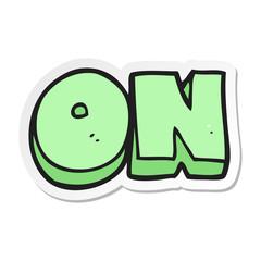 sticker of a cartoon on symbol