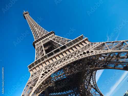 Eiffel Tower in Paris, France - 255091393