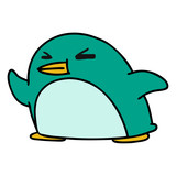 cartoon kawaii of a cute penguin