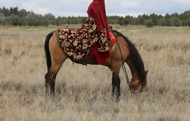 A traditional Turkish women's outfit.
