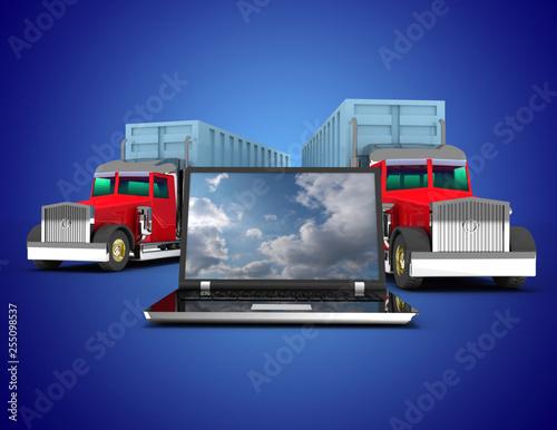 3D trailer concept. 3d illustration
