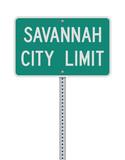 Savannah City Limit road sign