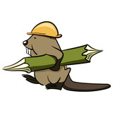 Beaver Builder carries a wooden log