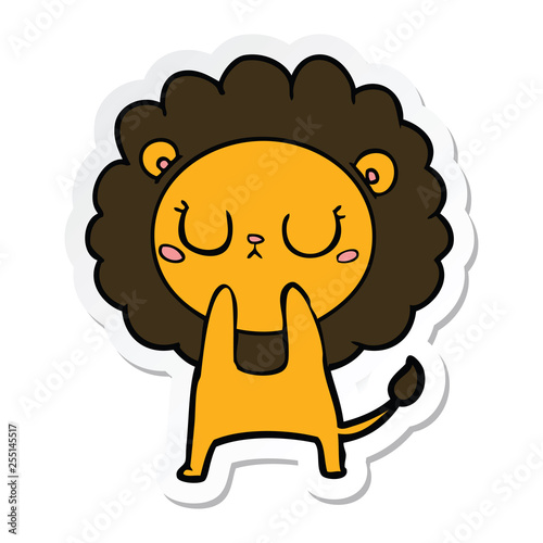 sticker of a cartoon lion
