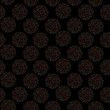 Seamless vector pattern multi-colored polka dot on black background - 255147116
