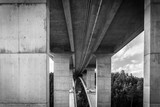 tall highway bridge infrastructure concrete jungle