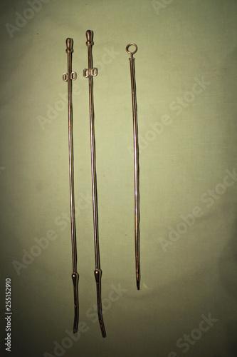 obraz PCV Three metal catheters for livestock