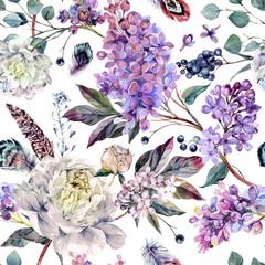 Watercolor Floral Boho Pattern