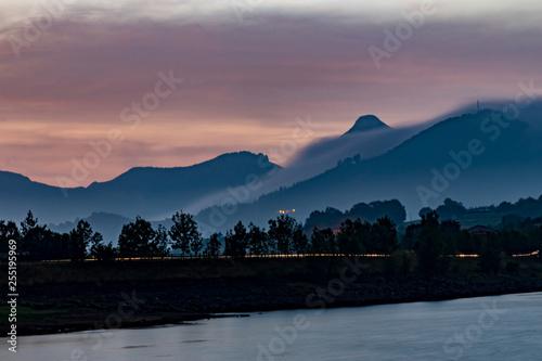 lake and mountains - 255195969