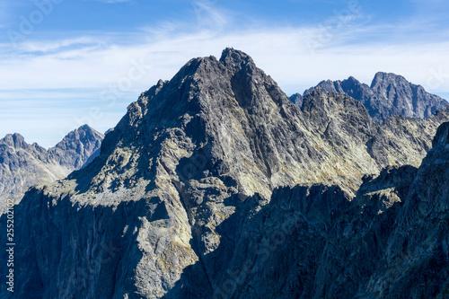 A beautiful view of the Velky Ganek. High Tatras. Slovakia.