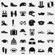 Season accessories icons set. Simple style of 36 season accessories vector icons for web for any design