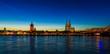 Leinwanddruck Bild - Köln Panorama