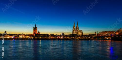 Leinwanddruck Bild Köln Panorama