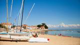 Plage et ses voiliers sur l'île de Noirmoutier