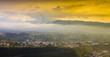 sunset over village - 255224561