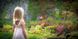 young woman in garden - 255230166