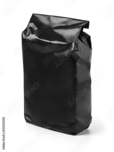 Black bag isolated on white background - 255256328