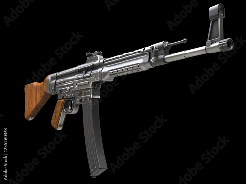 Vintage assault rifle - side front view © Dimitrius