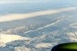 view of the West Bank of lake Baikal from the plane in winter - 255305182
