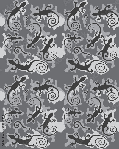 Camouflage pattern.Seamless army wallpaper.Military design.Abstract camo design.Digital paper.Repeating camouflage background.Fashionable.Printable art.Colorful vector illustration. - 255323578