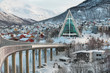 Leinwanddruck Bild - Norwegen Tromso Eisbergkathedrale