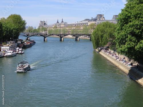 Foto Murales Seine Ufer Boot