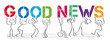 Good News - People with big colorful letters - 255345323