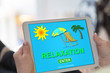 Relaxation concept on a tablet