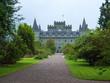 Leinwanddruck Bild - Inveraray Castle im schottischen Hochland