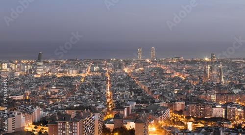 obraz PCV Barcelona Skyline Panorama Barcelona Spanien Europa