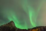 Aurores boréales aux îles Lofoten en Norvège