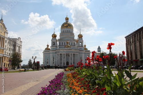 The Cathedral of St. Theodore Ushakov in Saransk, republic Mordovia od Russia