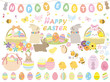 Easter eggs spring illustration
