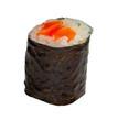 Sushi Saumon Maki On White Background