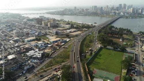 Abidjan plateau from riviera