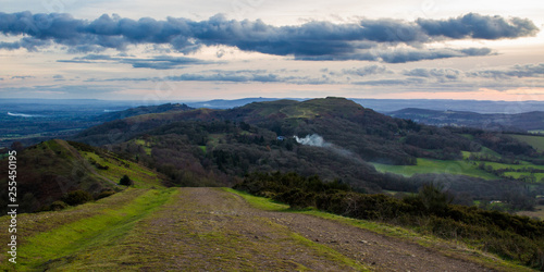 Panorama of jubilee hill and the southern part of the malvern hills including herefordshire beacon - 255450195