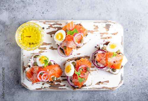 Leinwanddruck Bild Scandinavian open faced sandwich