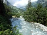 The Chärstelenbach stream in the Maderanertal alpine valley - Canton of Uri, Switzerland