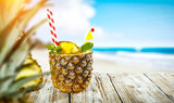 Pineapple fruit and summer time