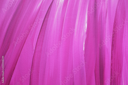 Pink gouache abstract texture painting - 255558344