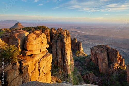 Great view over african landscape