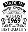 Made in United Kingdom August 1969