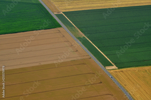 Ecouis, France - july 7 2017 : aerial picture of the landscape