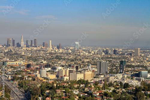 Cityscape of Los Angeles with hazy horizon - 255603980